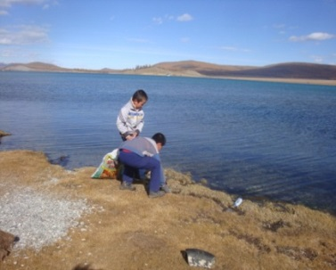 2013 Shoreline clean-up campaigns in Mongolia