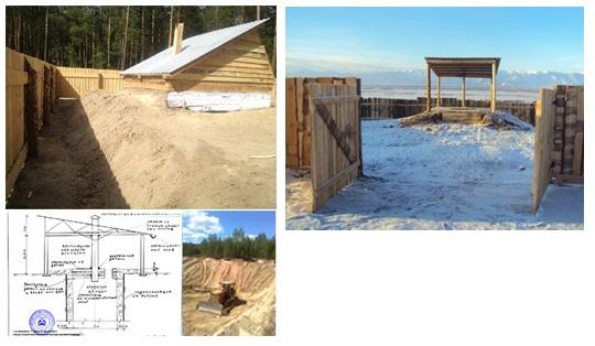 Cattle mortuaries construction in Kurumkansky and Barguzinsky district of the Republic of Buryatia, Russia
