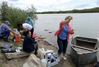 International expedition works on organization of sanitary-epidemiological monitoring of transboundary water objects in the Republic of Buryatia and Mongolia