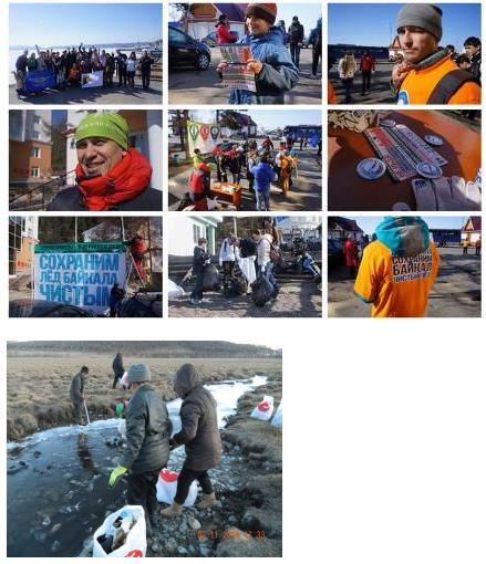 Lake Baikal and Lake Khuvsgul shoreline cleanup campaigns.