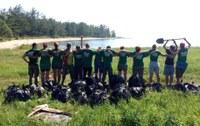 Кампания по очистке побережья Байкала, Селенги